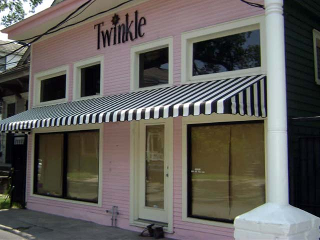 Black White Vinyl Awning