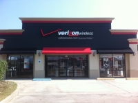 Black and Red Commercial Awnings